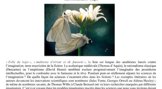 Le projet Paré à la Journée «Sciences, Imagination, Imaginaires» (Paris-Diderot) 05-04-2018